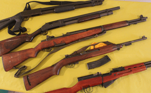 Used and antique rifles