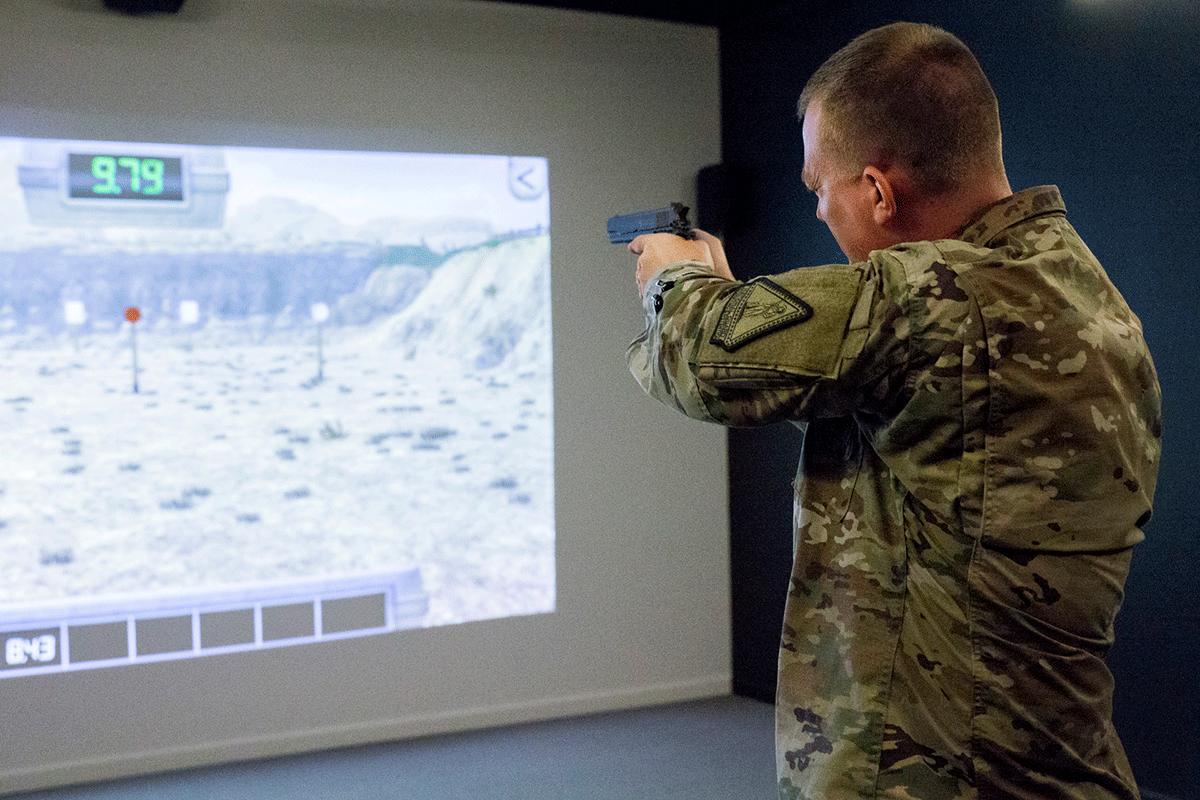 Military virtual shooting
